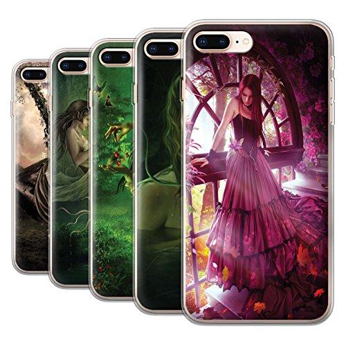 Officiel Elena Dudina Coque / Etui Gel TPU pour Apple iPhone 8 Plus / Couleurs d'Automne Design / Un avec la Nature Collection Pack 15pcs