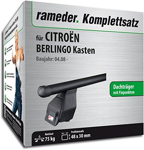 Rameder Komplettsatz, Dachträger Tema für Citroën BERLINGO Kasten (118848-06732-9)