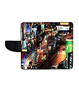 KolorEdge Printed Flip Cover For Redmi Xiaomi Note Multicolor - (55KeMLogo10458XiaomiNote)