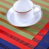FERZA Home PVC-Isolierung Rutschfeste Westernfutterschüsselschüsselmatte Tischmatte Einfacher Westernstil westliche Tischmatte ohne Wasser waschen (Color : SPD-03-9) - 3