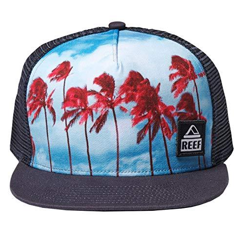 Reef Beach State Trucker Cap Basecap Baseballcap Truckercap Meshcap Flat Brim (One Size - blau)