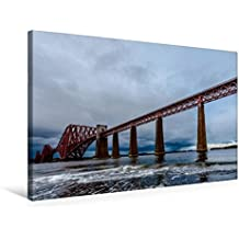 Calvendo Premium Textil-Leinwand 75 cm x 50 cm Quer, Forth Bridge | Wandbild, Bild auf Keilrahmen, Fertigbild auf Echter Leinwand, Leinwanddruck Orte Orte