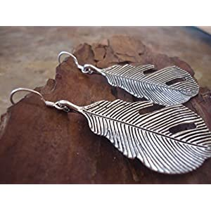★ BLATT OHRRINGE 925 Silber ★ längliche Ohrringe