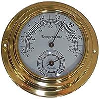szdealhola - Termómetro de latón con Esfera de 10 cm, higrómetro de 20 °C