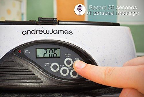 Andrew James – Programmierbarer Automatischer Futterautomat / Futterspender für Haustiere – 6 Tage / Mahlzeiten – In Granit – Mit Sprachaufnahme-Funktion – 2 Jahre Garantie - 3