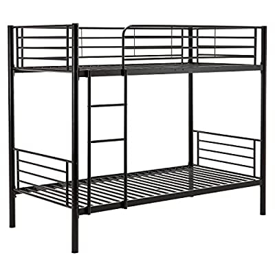 Mecor 3FT Single Black Metal Bunk Bed Frame 2 Person For Kids Adult Guest Contemporary - low-cost UK light shop.