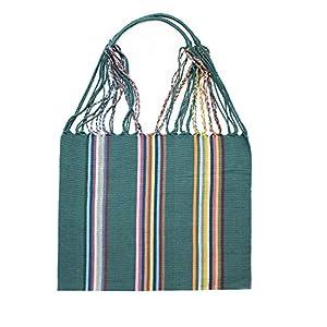 Einkaufstasche Boho El Carmen 'grün'; Handgewebt, Handtasche, HANDARBEIT, Tasche, Geschenkidee für Frauen
