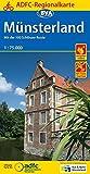ADFC-Regionalkarte Münsterland mit Tagestouren-Vorschlägen, 1:75.000, reiß- und wetterfest, GPS-Tracks Download: Mit der 100-Schlösser-Route (ADFC-Regionalkarte 1:75000) -