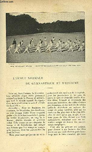 LE MONDE MODERNE TOME 15 - L'ECOLE NORMALE DE GYMNASTIQUE ET D'ESCRIME par UN ANCIEN ELEVE
