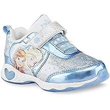 Disney infantil de niña Frozen–Zapatillas deportivas, color plateado y azul luminoso