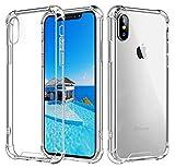 Babacom Hülle für iPhone XS Max [Crystal Clear] iPhone Case Stoßfeste Ecke Kissens Bumper mit Harten PC-Rückseite & Verstärkten Weichen TPU-Rahmen für iPhone XS Max 6.5-Zoll (2018)