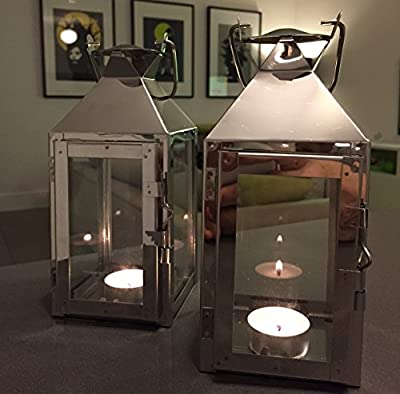 Set Of Two Small Milan Tealight Lantern