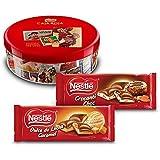 Nestlé Caja Roja (250 g) + Nestlé Chocolate Relleno Dulce de Leche (240 g) + Nestlé Chocolate Relleno Crocanti (240 g)