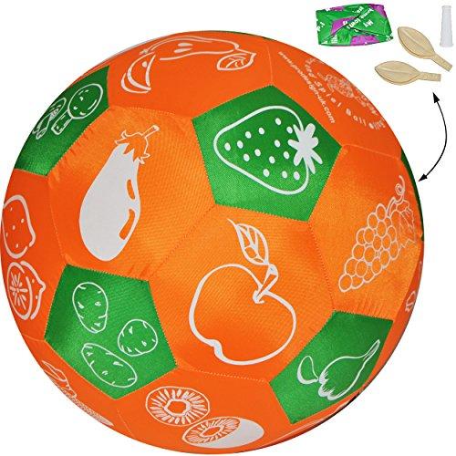 XL - Lernspielball -  Ernährung - Obst & Gemüse - Informationen - Geschichten & Reime - alle Sprachen !  - Ø 40 cm - Lernspiel Ball - Lernen & Üben & Kennen.. -