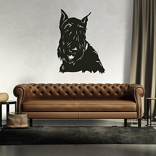 malango® Wandtattoo - Scottish Terrier Wand Tattoo Wandaufkleber Hund Hunderasse Tier Tierwelt Dekoration ca. 117 x 160 cm Gold -