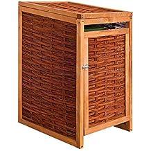 Mülltonnenbox für 1 Tonne 240 L Mülltonnenverkleidung aus Holz/Weide von Gartenpirat®