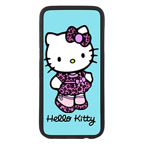 Handy Tasche Schutzhülle für Hello Kitty Leopard Case Cover (Kitty Hello Leopard)