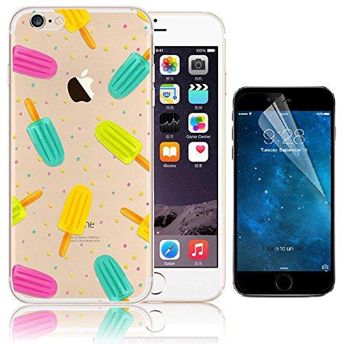 iPhone 7 Case (4.7), Bonice iPhone 7 Custodia,TPU Trasparente Ultra Slim Thin Morbido Crystal Clear Cover + 1x Protezione Schermo Screen – Rosa Model 12