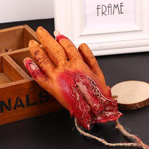 Yukio Festival - Pop Halloween Abgetrennte Hand Hund Spielzeug Blutig Scherzartikel Horror aus Latex, Gebrochenes Herz , Finger, Körperteil, Bein, Kopf, Augen, Lunge (Hand)