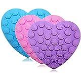 30Rose Fleurs Moule Moules en silicone, Senhai Lot de 3en forme de coeur chocolats gâteaux Bonbons Glaçons Craft Décorations plateaux–Violet, Bleu, Rose