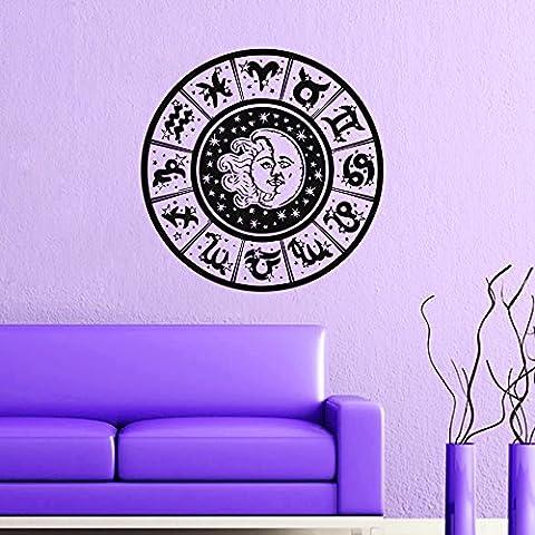 Calcomanías de pared Sol y Luna signos del zodiaco Crescent Dual Noche de estrellas Símbolo Sunshine vinilo adhesivo adhesivo decoración del hogar dormitorio mural mn536