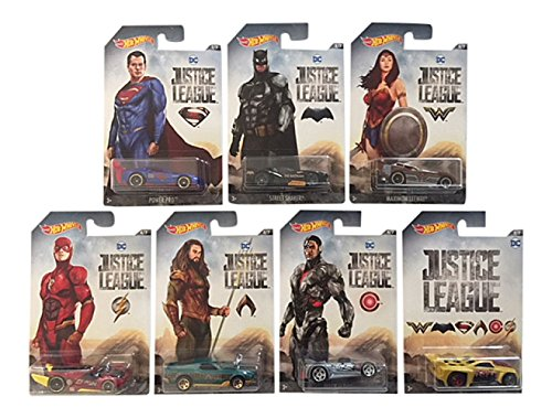 Mattel Hot Wheels DWD02 Limited Car DC Justice League, je 1 Fahrzeug, zufällige Auswahl (Wheels Auto Fall Hot)