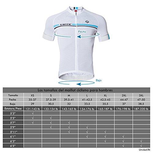 SANTIC Maillot Ciclismo Hombre, Maillot Bicicleta Hombre, Camiseta Ciclismo con Mangas Cortas