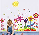 UberLyfe Colorful Sunflowers Wall Sticke...