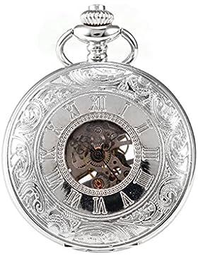 AMPM24 Damenuhr Herrenuhr Taschenuhr Quarzuhr Schmuckanhänger Uhr Kette WPK081