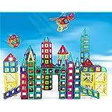 Wisdom Piezas magnéticas de bloques de construcción, juguetes para niños, Imán de los bloques huecos de 3-6 años de la muchacha Puzzle Boy