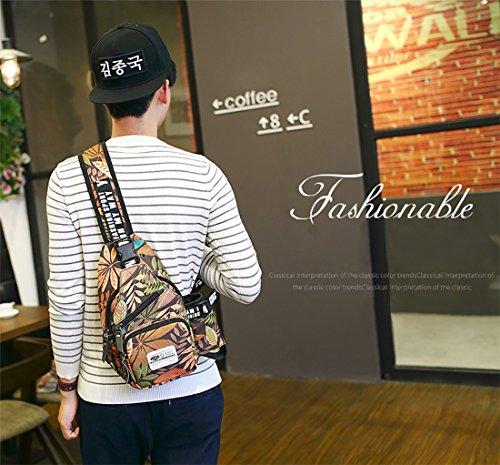 FANDARE Sling Bag Rucksack Umhängetasche Brusttasche Messenger Bag Schultertasche Hiking Bag Daypack Crossbody Bag Chest Pack Sports Reisetasche Wasserdicht Polyester Blau Braun