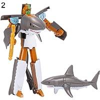 WIN86haib Transformation Robot Action Figure Ocean Park Shark Dolphin Educational Kids Toy