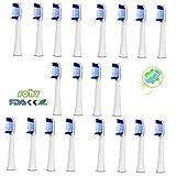 20 Stk. (5x4)Sohv® Zahnbürstenkopf Ersatzstücke für Braun Oral-B Pulsonic (SR32-4). Komplett kompatibel mit den folgenden Griffen elektrischer Zahnbürsten(Oral-B Pulsonic Slim, Oral-B Pulsonic, Oral-B Pulsonic SmartSeries) ,4stk(1x4)