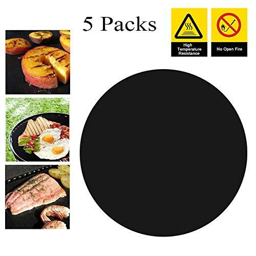 Tapis de cuisson rond anti-adhésif réutilisable...