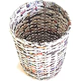 Sonas Creation PAPERUS Customizable SMALL Size 8 Inch TALL 5 L Color Natural Open Waste Basket Dustbin Trashcan Paper Bin Sto