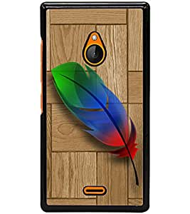ColourCraft Colorful Feather Design Back Case Cover for NOKIA XL