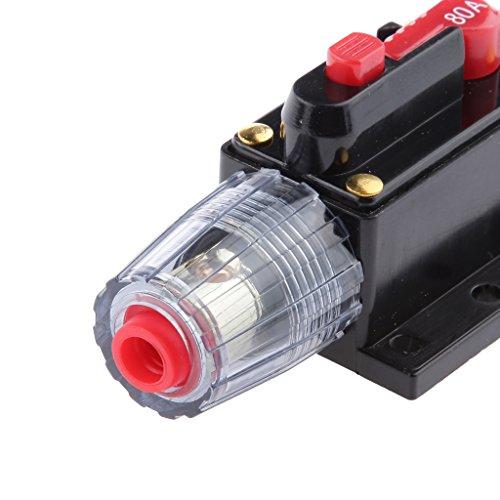 Ge Circuit Breaker Panel (Generic 12V-24V Auto Stereo Audio Inline Strom Schalter Ersatz Sicherung Zurücksetzen - 80 Ampere)