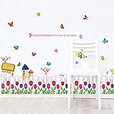 Diy Und Werkzeuge,Zaun Blume Korridor Sockel Kinderzimmer Dekoration Entfernbare Wandaufkleber@60 * 90