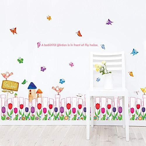 Wandtattoos & Wandbilder Tapeten 3D Wohnzimmer Ecke dekorative Glasmalerei Stiefmütterchen Sockelleiste Wandaufkleber Größe: 60 * 90cm -