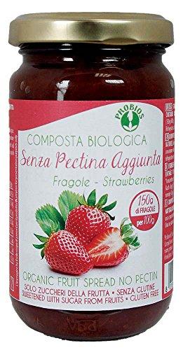 PROBIOS Erdbeer-Brotaufstrich - Gesüßt Nur mit Zucker aus Früchten, 3er Pack (3 x 220 g) (Marmelade Für Pektin Obst)