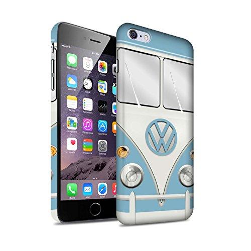 STUFF4 Matte Snap-On Hülle / Case für Apple iPhone 6+/Plus 5.5 / Maus Grau Muster / Retro T1 Wohnmobil Bus Kollektion Fjord Blau