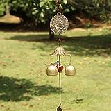 Sharplace Chinesisch Metall Windspiel Klangspiel Glücksbringer Glocke