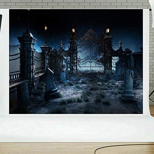 Jamicy 5x3ft Hintergrund für Grimasse Kürbis Laterne Bokeh -