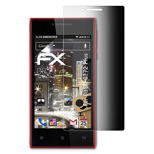atFoliX Blickschutzfilter für Cubot GT72 Plus Blickschutzfolie - FX-Undercover 4-Wege Sichtschutz Displayschutzfolie