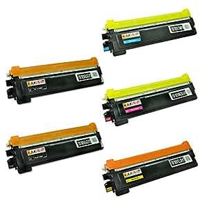 SPEEDY TONER Brother TN210 Laser Toner Replacement Cartridges Set of 5
