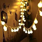 infinitoo Globe LED Lichterkette, 10M 100er Kugel LED Lichterkette Warmweiß, Wünderschöne-Deko für Weihnachten, Hochzeit, Party, Zuhause sowie Garten, Balkon, Terrasse, Fenster, Treppe, Bar, etc