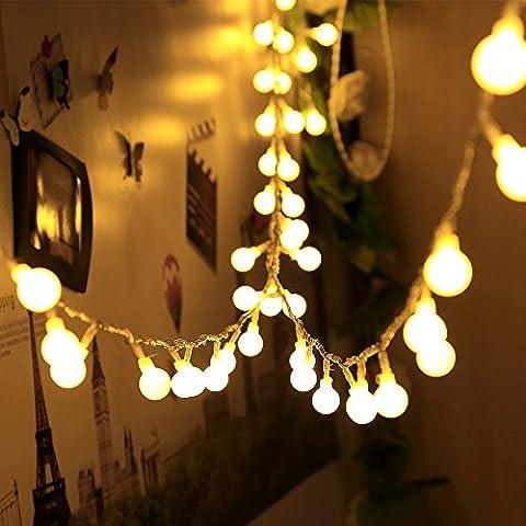 Infinitoo Guirlande Lumineuse | LED Globe Légère, 10M 100 Blanc Chaud | Belle Décoration pour Noël, Mariage, Fête, Maison, Jardin, Balcon, Terrasse, Fenêtre, Escalier, Bar, etc. [Classe Energétique A +++]