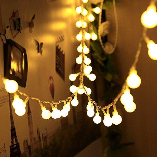 infinitoo Lichterkette 10 m 100 LED Glühbirne Lichterkette Warmweiß, Wünderschöne-Deko für Weihnachten, Hochzeit, Party, Zuhause sowie Garten, Balkon, Terrasse, Fenster, Treppe, Bar