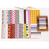 28 feuilles de Papier autocollant Craft tissu décoratif Scrapbooking cadeau de produits laitiers