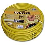 "Sunflex - Manguera para jardín (1"", 50 m, 3 capas), color amarillo"